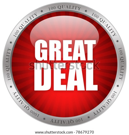 Great deal glossy icon - stock photo