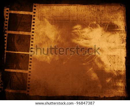 Great film strip for textures and backgrounds frame - stock photo