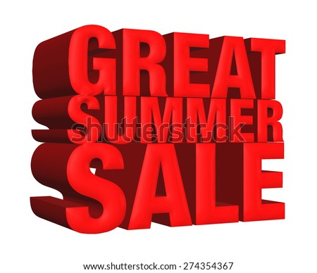 Great hot sale 3d isolated over white background  - stock photo
