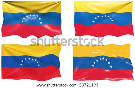 Great Image of the Flag of venezuela - stock photo
