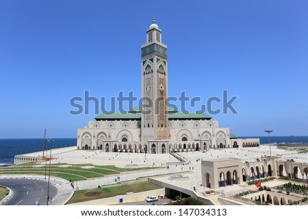 Great Mosque Hassan II in Casablanca, Morocco - stock photo