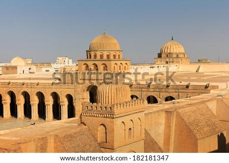 Great Mosque of Kairouan, Tunisia - stock photo