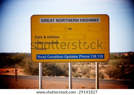 Great northern Highway - stock photo