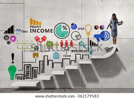 Great plan for success achieving - stock photo