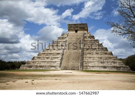 great pyramid in Mexico - stock photo