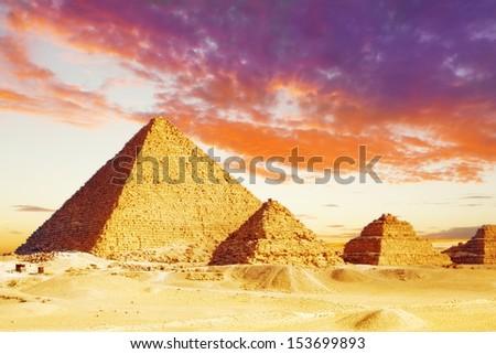 Great Pyramid , located at Giza , Egypt.  - stock photo