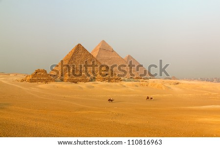 Great Pyramid of Giza. Egypt. - stock photo