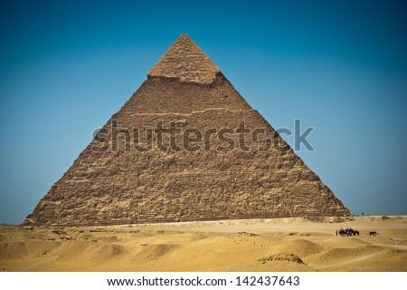 Great Pyramid of Giza, Egypt - stock photo