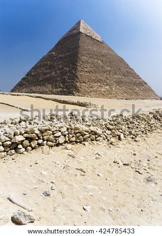 great pyramid of Giza Egypt - stock photo