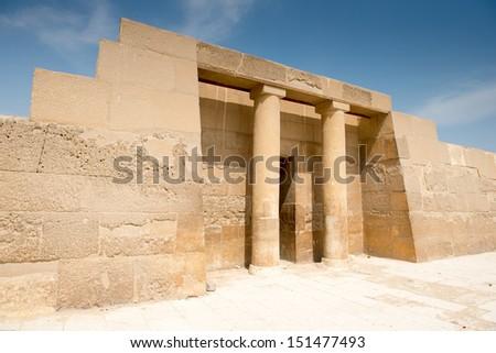 Great pyramids complex in Giza valley, Cairo, Egypt - stock photo