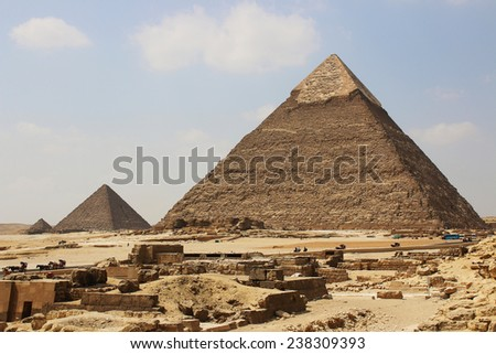 Great Pyramids of Giza. Cairo. Egypt. - stock photo