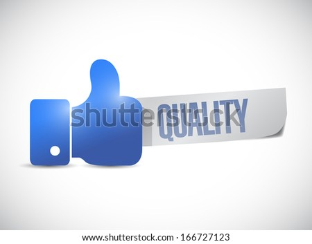 great quality sign hand illustration design over a white background - stock photo