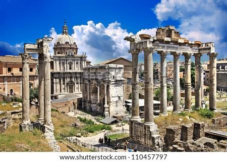 great Roman landmarks - Forums - stock photo