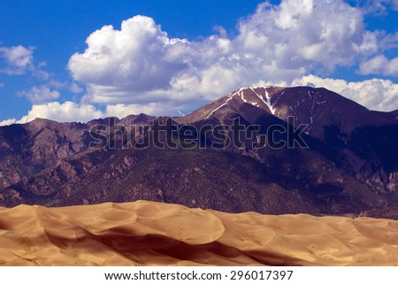 Great Sand Dunes National Park in Colorado - stock photo