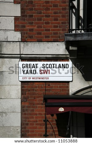 Great Scotland Yard. - stock photo