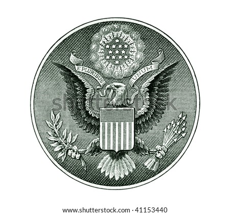 Great Seal of the United States with clipping path - stock photo