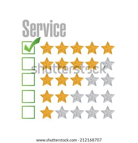 great service rating illustration design over a white background - stock photo