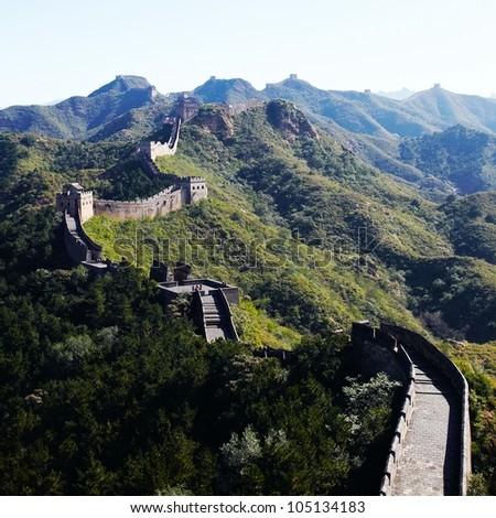 Great wall, Beijing,China - stock photo