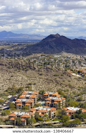 Greater Phoenix Mountain Housing Community, Arizona  - stock photo