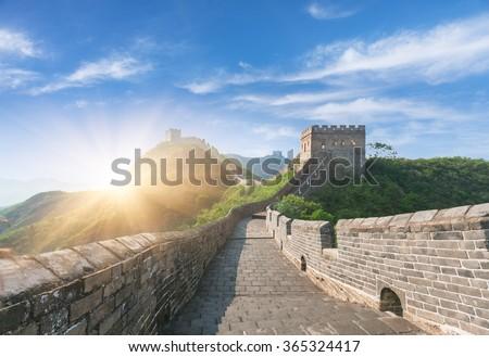 greatwall, the landmark of china, beijing, china. - stock photo