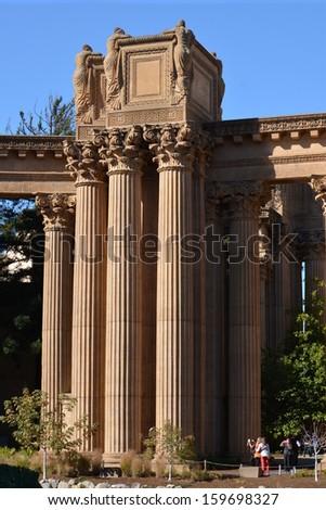 Greco-Roman Columns - stock photo