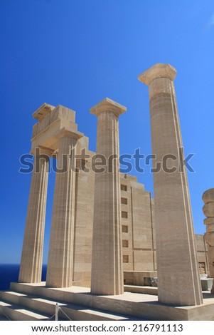 Greece acropolis - stock photo