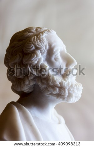 GREECE - ATHENE MAY 19 2009: Statue of Plato, ancient Greek philosopher.  These illustrative copies are for sale.  - stock photo