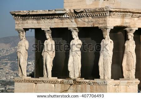 Greece, Athens, Acropolis - stock photo