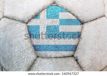 greece flag soccer - stock photo