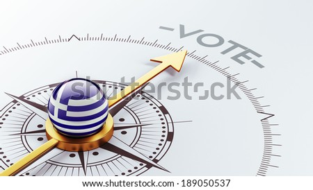 Greece High Resolution Vote Concept - stock photo
