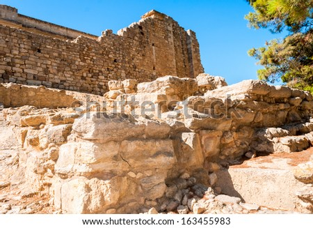 Greece Knossos Palace, ceremonial and political centre of Minoan civilization and culture - stock photo