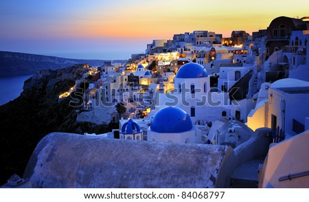 Greece - Santorini Island - stock photo