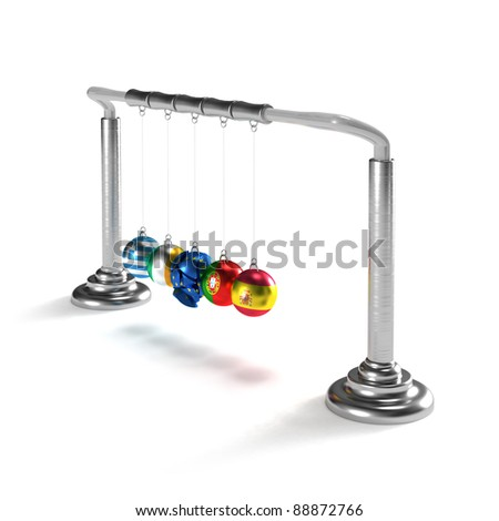 Greece, Spain, Portugal, Ireland are breaking the economy of European Union (concept) - stock photo