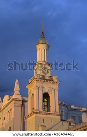 Greek Catholic Church of saint Catherine at Podol in Kiev, Ukraine - stock photo