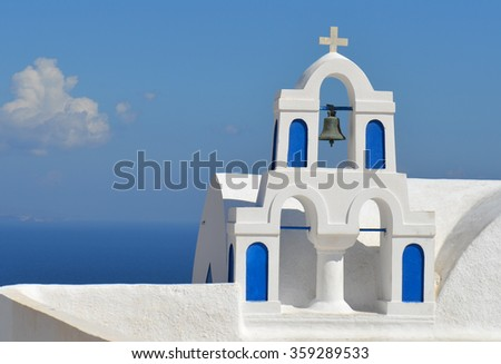 Greek Church Bell Detail - stock photo