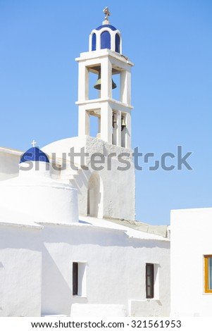 Greek church on the Tinos Island, Greece.  - stock photo