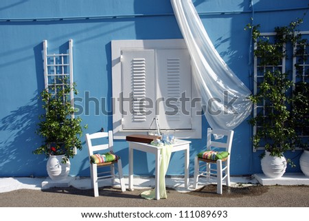 Greek corner - stock photo