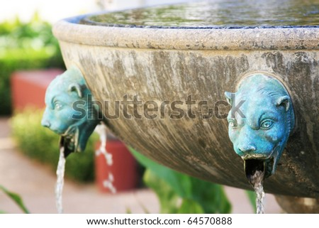 Greek fountain - stock photo