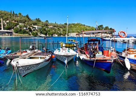 Greek island paxos, ionian island, mediterranean sea, Greece, Europe - stock photo