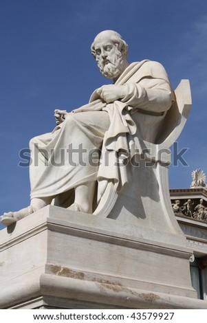 Greek philosopher Plato. - stock photo