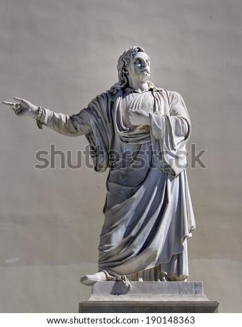 greek philosopher statue - stock photo