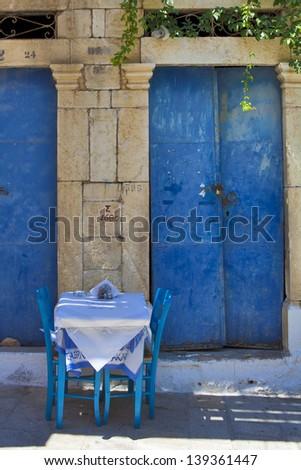 Greek Taverna - stock photo