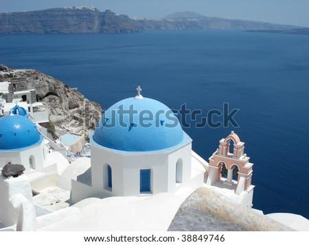 Greek Village - stock photo