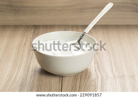 Greek yogurt  - stock photo