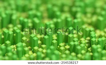 Green abstract and geometric background. - stock photo