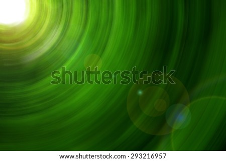 green abstract background, circle effect with lens reflections - stock photo