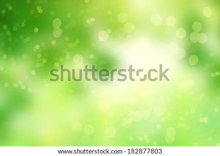 Green abstract background picture with bokeh lights - stock photo