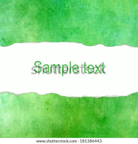 Green abstract background with blank space for text - stock photo
