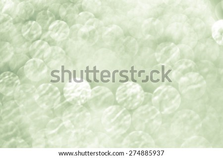 green abstract background with bokeh defocused lights - stock photo