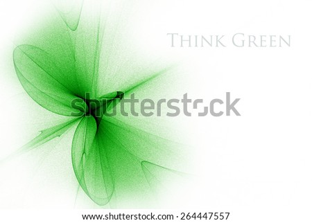 Green abstract fantasy design, great as a background. Nature organic herbal concept for your project. The sample text can be very easily removed. - stock photo